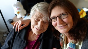 Janet and Pat at the Apple Valley Assisted Living Facility in Washington state.